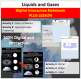 Liquids and Gases - Digital Interactive Notebook + Lesson