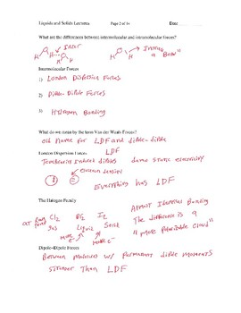 Liquids and Solids Lectures for AP Chemistry
