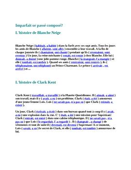 Lire dire ecrire   and Passe compose or imparfait