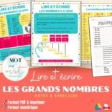 Lire et écrire les grands nombres   Read and Write Large Numbers FRENCH