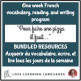 Lire, écrire, vocabulaire tous les jours #9 - French reading and writing BUNDLE