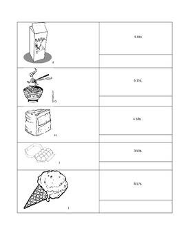 Lire les prix sur un menu/ Reading food prices on a menu in French