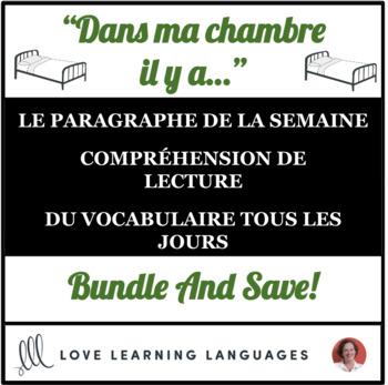 Lire et écrire tous les jours #3 - French reading and writing BUNDLE