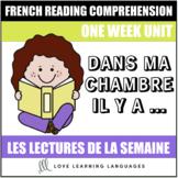 French Reading Program - Dans ma chambre il y a...
