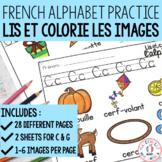 FRENCH Alphabet Read and Colour - lis et colorie l'alphabe