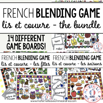 Lis et couvre - THE BUNDLE (FRENCH Read & Cover - blending practice)