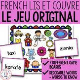 Lis et couvre - Un jeu pour la fusion (FRENCH Read & Cover - blending practice)
