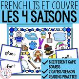 Lis et couvre - Un jeu pour la fusion - Les 4 saisons (FRENCH Read & Cover)