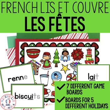 Lis et couvre - Un jeu pour la fusion - Les fêtes (FRENCH Holiday Read & Cover)