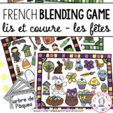 FRENCH Blending Practice / Guided Reading Game - les fêtes