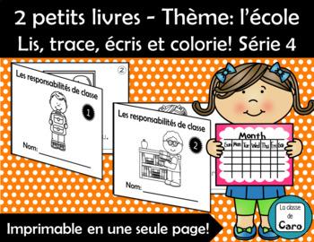 Lis, trace, écris et colorie! L'école - 2 livres Série 4