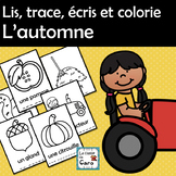Lis, trace, écris et colorie - L'automne