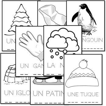 Lis, trace, écris et colorie - L'hiver (French - FSL)