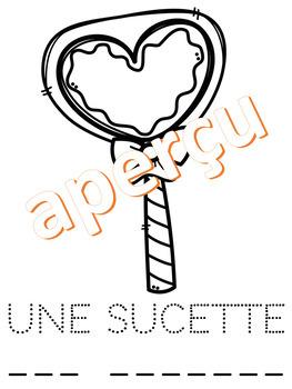 Lis, trace, écris et colorie - LA SAINT-VALENTIN  (French - FSL)