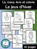Lis, trace, écris et colorie - Olympiques d'hiver (French - FSL)