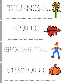 Lis, trace, écris et colorie - Thème: l'automne