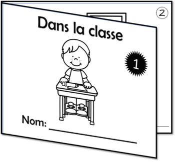 Lis, trace, écris et colorie!  Thème: l'école Série 3
