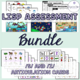 Lisp Assessment plus /s/ and /z/ Articulation Flashcard - BUNDLE