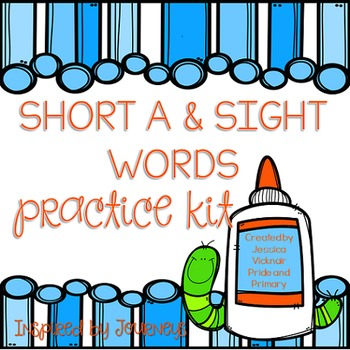 List 2 Short a Words and Sight Words Practice Kit - Little
