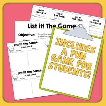 List It! Task Cards