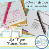 Printable Planner stickers for Making Lists