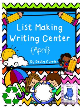 List Making Writing Center~ April