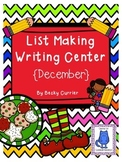 December List Making Writing Center