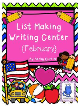 February List Making Writing Center