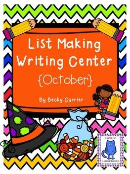 October List Making Writing Center