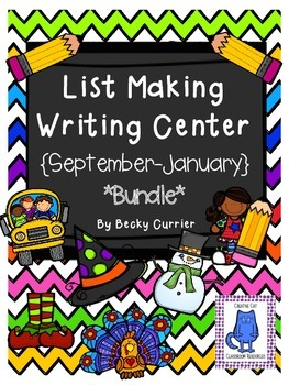 List Making Writing Center ~September-January {BUNDLE}