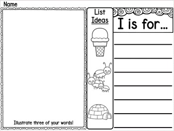List Making Writing Station