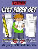 List Paper Freebie