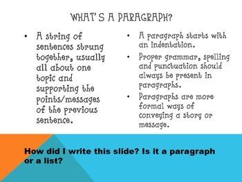 List Vs. Paragraph PowerPoint