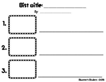 List Writing Paper - Monthly Prompts & Blank Form - Illustration & Writing