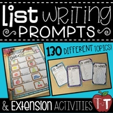 List Writing Prompts and Extension Activities {Writing Sta