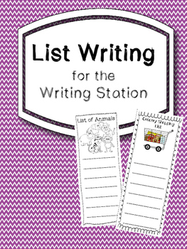 List Writing for the Writing Station in English & Spanish