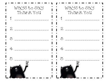 List Writing using Splat the Cat