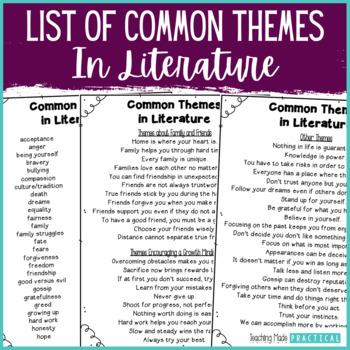 common themes in fifth grade literature