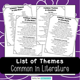 List of Common Themes in Literature