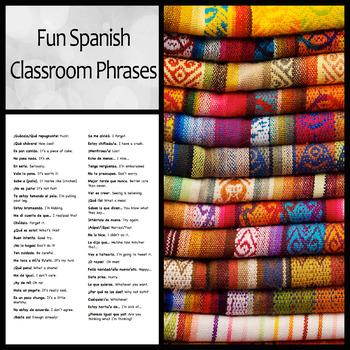 List of Fun Spanish Classroom Phrases