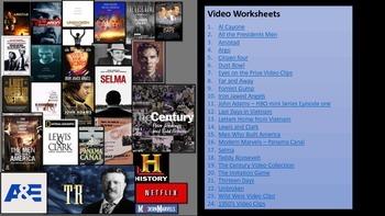 List of Movie worksheets