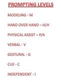 List of Prompting Levels