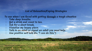 List of Relaxation/Coping Strategies