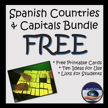 Spanish Speaking Countries and Capitals Bundle