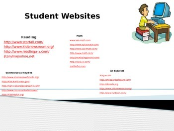 List of Student Websites