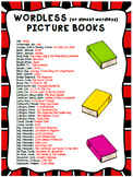 List of Wordless (or Almost Wordless) Picture Books -- Speech Therapy, ELA