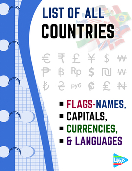 list of countries flags capitals currencies languages tpt