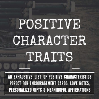List of character traits _NO WATERMARK_