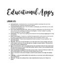 List of my all time favorite free educational Apps to shar