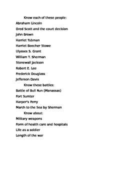 List of significant Civil War events